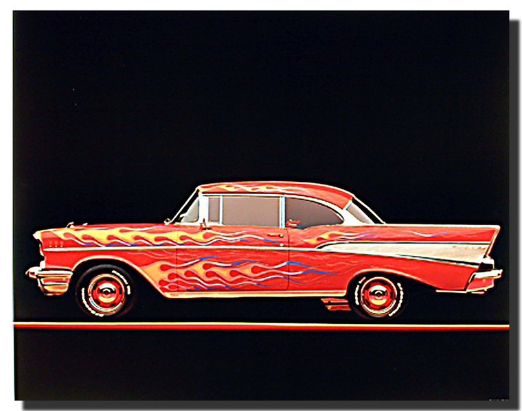1957 Chevy Bel Air Model Car Posters