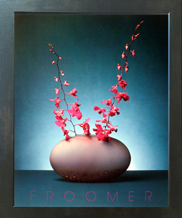 Orchid Pink Flowers Floral Wall Decor Picture Espresso Framed Art Print (20x24)