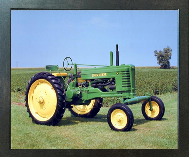 1947 John Deere Vintage Farming Tractor Wall Decor Picture Espresso Framed Art Print (20x24)