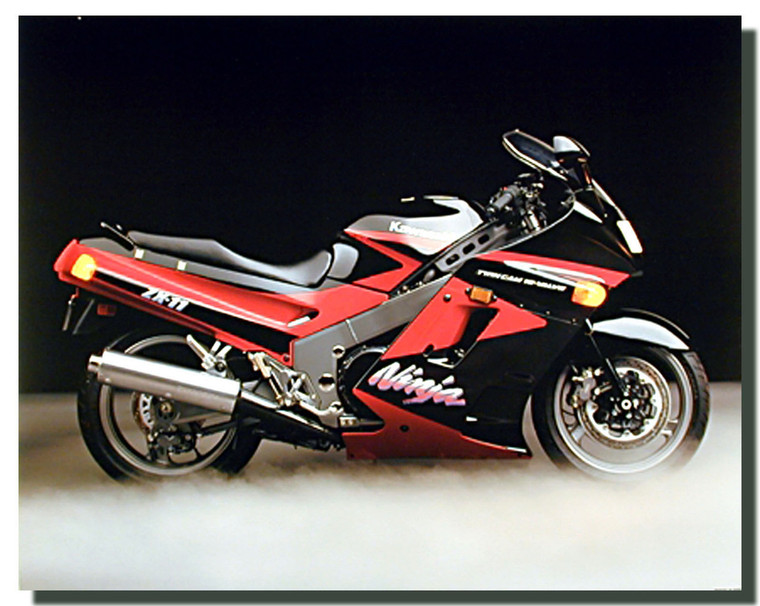 Ninja ZX11 Kawasaki Motorcycle Posters