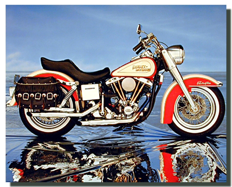 Harley Davidson Electra Glide Motorcycle Posters