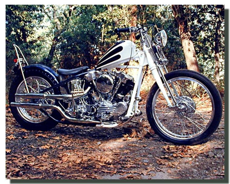 Custom Harley Knucklehead Chopper Motorcycle Posters