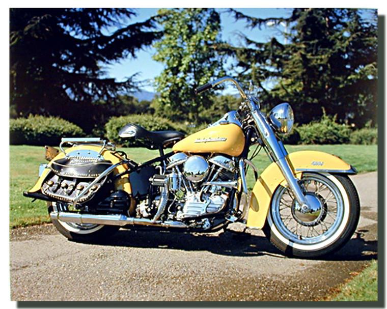 Panhead Harley Davidson Motorcycle Posters