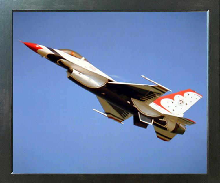 Thunderbird Airplane Aviation Wall Espresso Framed Picture Art Print (20x24)