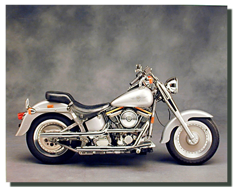 White Harley Davidson Motorcycle Posters
