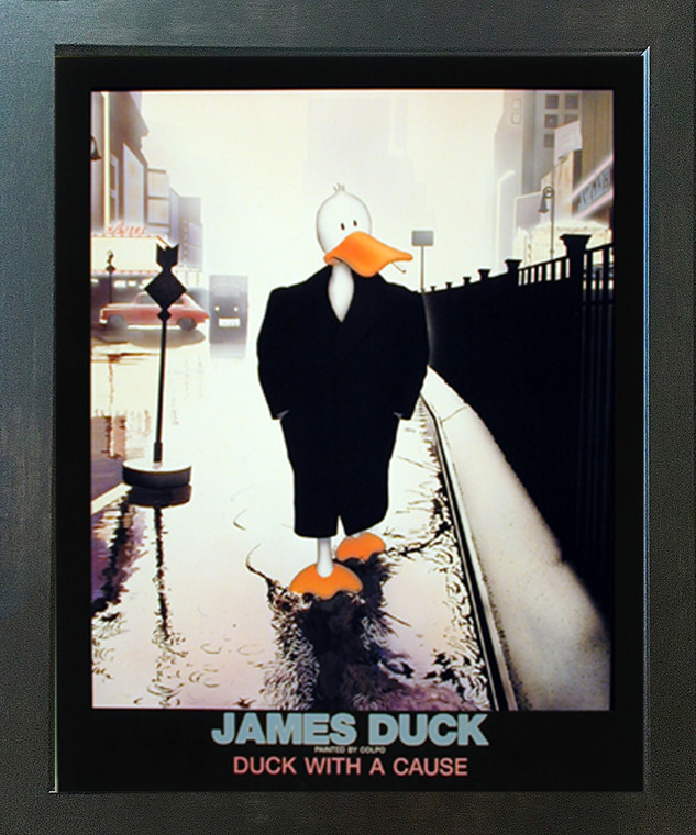 James Duck Duck with a Cause Colpo Espresso Wall Decor Framed Picture Art Print (20x24)