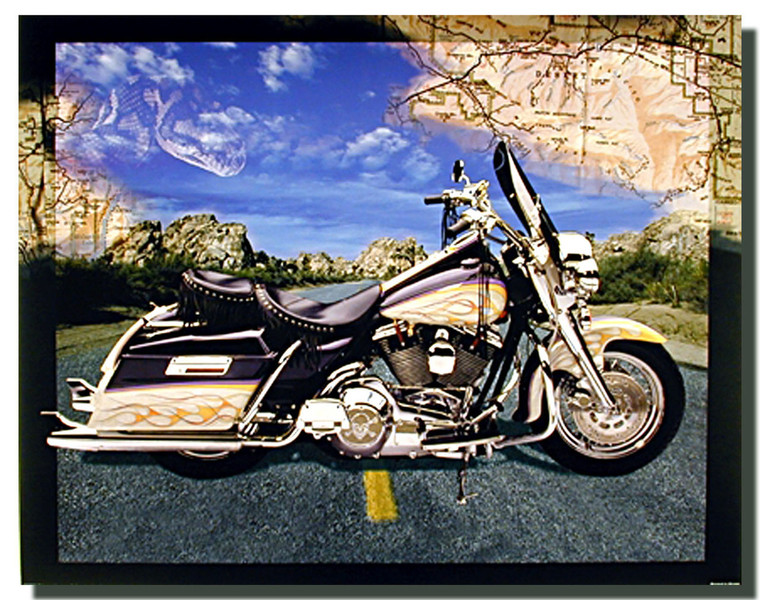 Motorcycle On Highway Posters