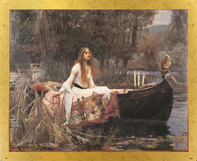 The Lady Of Shalott John Waterhouse Boat Picture Golden Framed Art Print Poster (18x24)