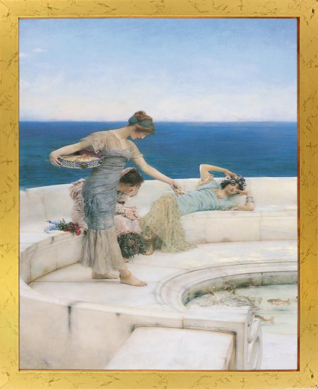Silver Favourites, 1903 Sir Lawrence Alma-Tadema Golden Framed Wall Decor Art Print Poster (18x24)