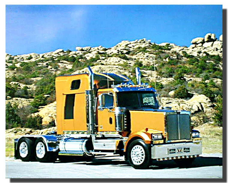 Gold Big Rig Richard Stockton Truck Poster