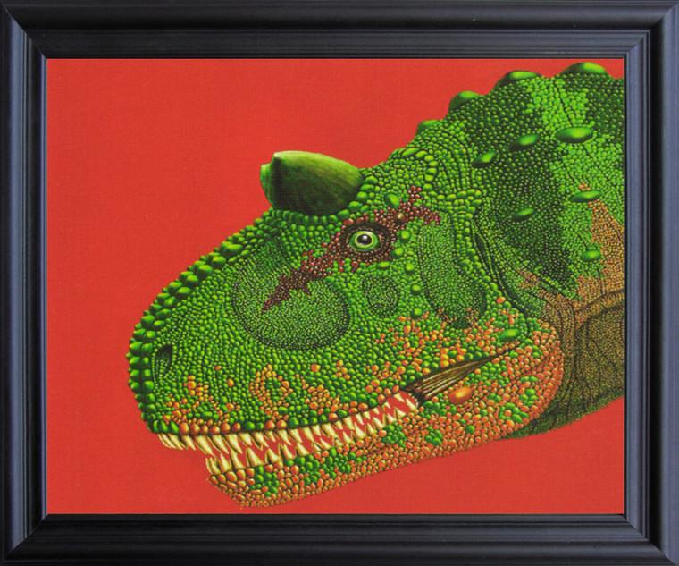 Carnivorous Dinosaurs Wall Decor Fine Black Framed Art Print Poster (19x23)