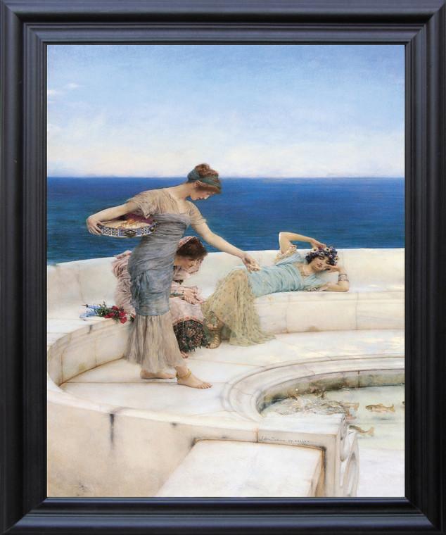 Silver Favorites, 1903 Sir Lawrence Alma-Tadema Wall Decor Art Black Framed Print Poster  (19x23)