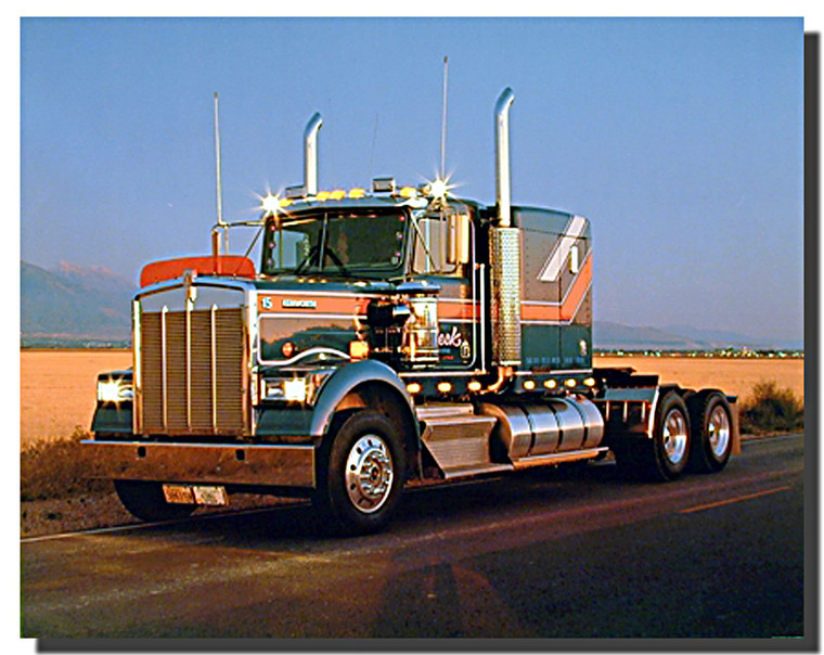Kenworth Diesel Truck Poster