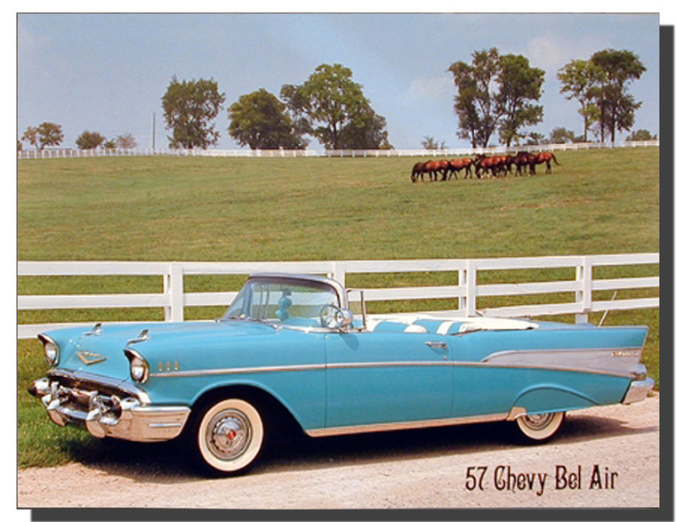 1957 Chevy Vintage Car Poster