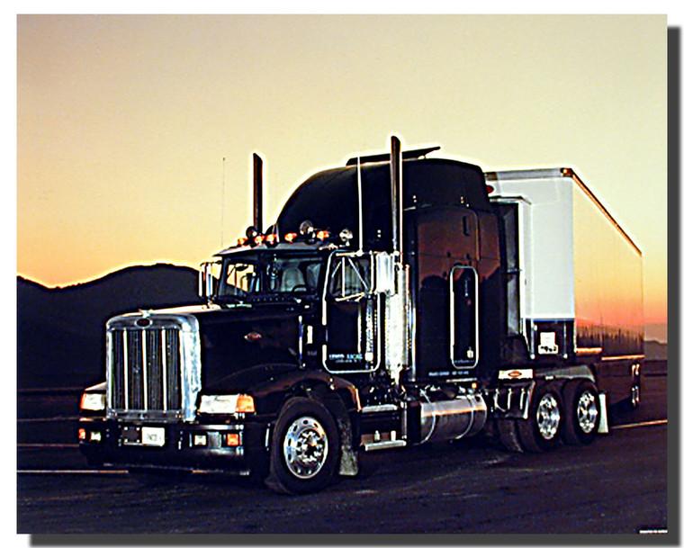 Peterbilt Semi With Trailer Big Rig Truck Poster