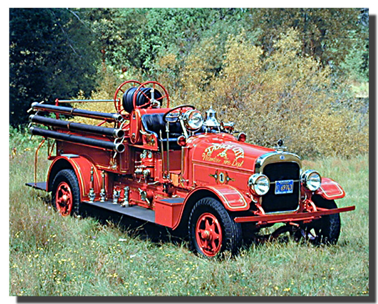 1922 Seagraves Fire Truck Poster