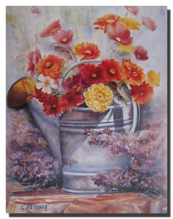 Flowers in a water can Poster