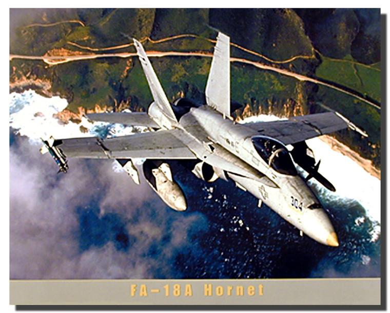 FA-18A Super Hornet Jet Poster