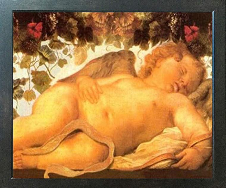 Poster Of Cherubini Little Angels Of Sistine Madonna Wall Decor Espresso Framed Art Print Poster(18x24)