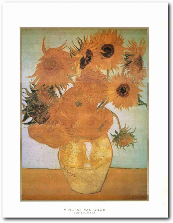 Picture Wall Decoration Vincent Van Gogh Sunflowers Painting Art Print Poster (22x28)