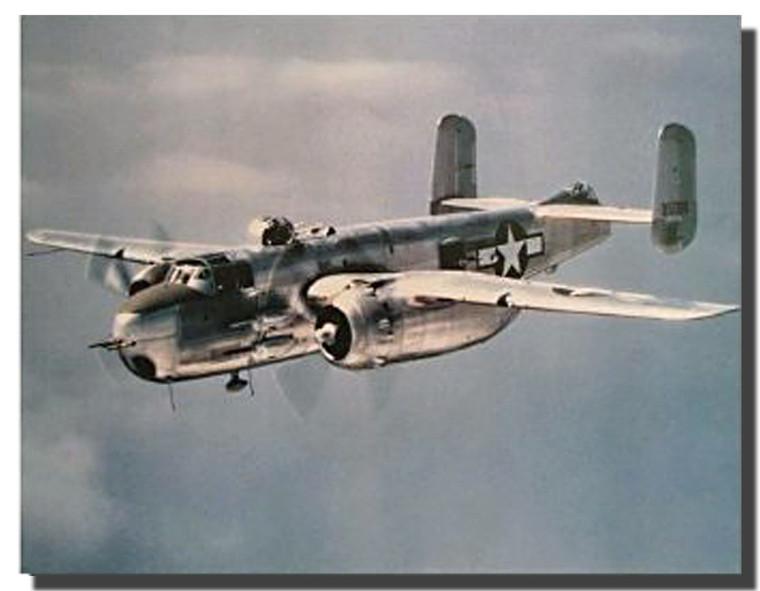 B-25 Mitchell. Lt. Bomber Airplane Jet Poster