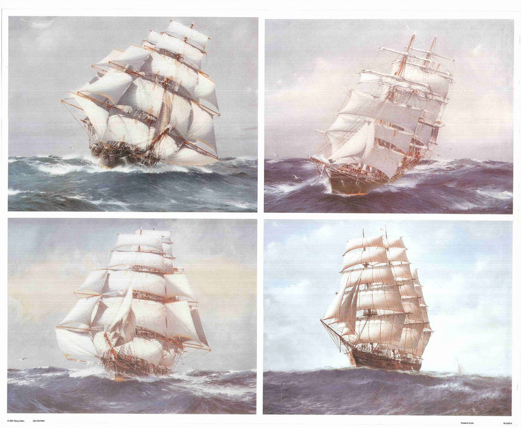 Nautical Wall Decor Picture Clipper Ship Sailing Boats Maritime Art Print Poster (16x20)