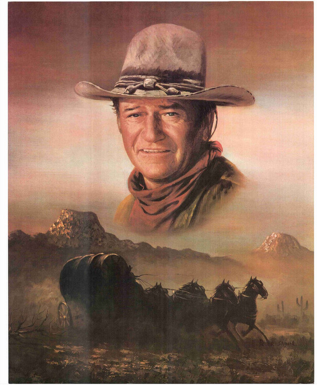 John Wayne Western Movie Poster