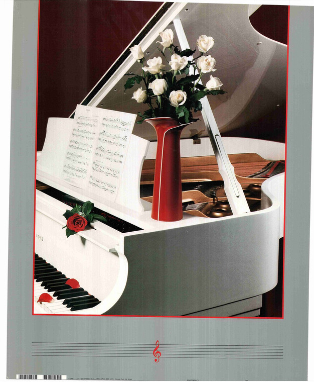 Grand Piano with Vase Poster