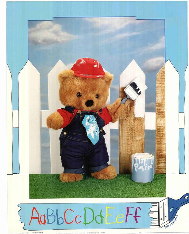 Teddy Bear Painting Fence