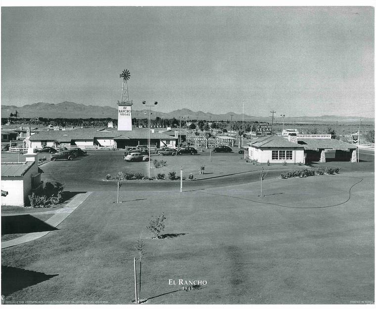 1945 Hotel El Rancho Las Vegas, Nevada Vintage City Art Print Poster (16x20)