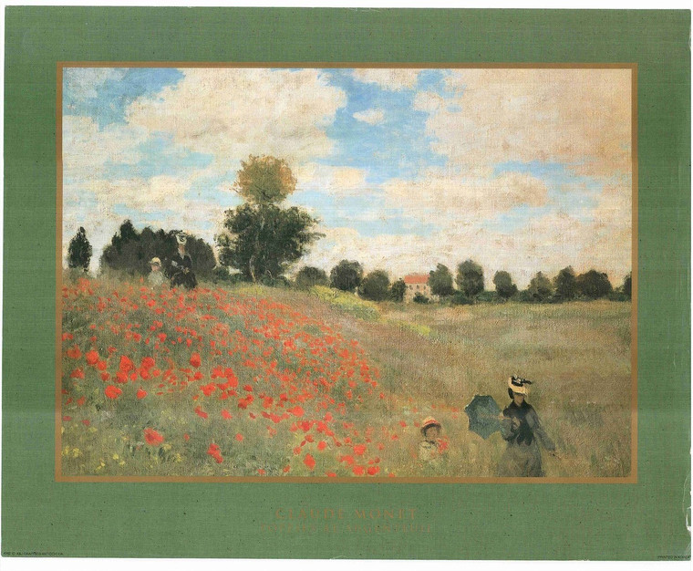 Claude Monet Poppies at Argenteuil Painting Art Print Poster (16x20)