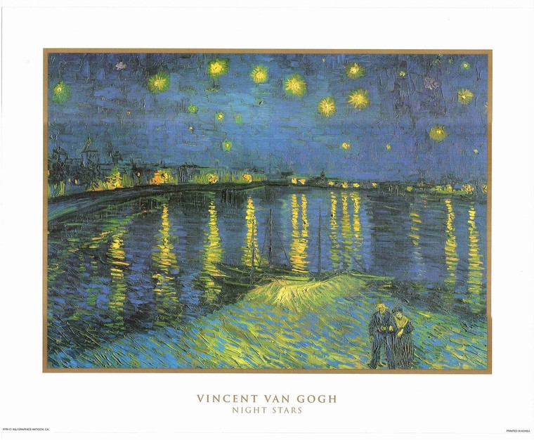 Vincent Van Gogh Stars Night Painting Wall Decor Art Print Poster (16x20)