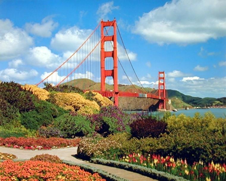 Golden Gate Bridge San Francisco Vintage Wall Decor Art Print Poster (16x20)