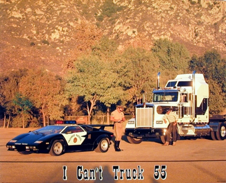 I Can't Truck 55 Police Car Wall Decor Art Print Poster (16x20)
