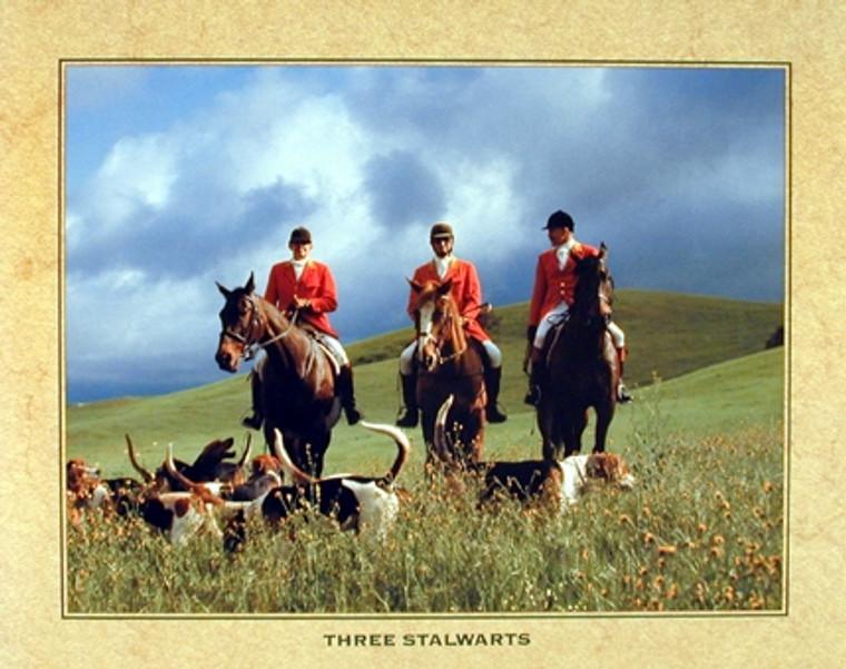 Three Stalwarts Hunting Dog Wall Decor Art Print Poster (16x20)