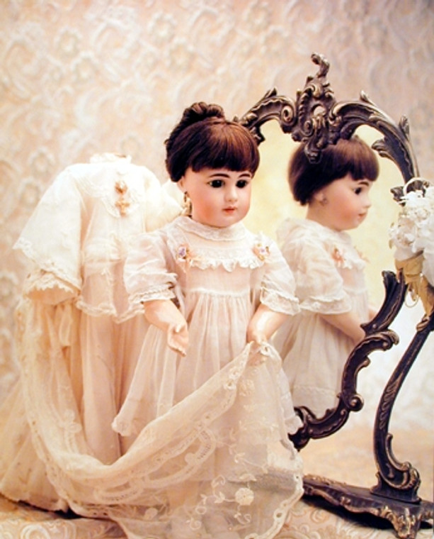Wall Decor Doll and Mirror Kids Bedroom for Girls Art Print Poster (16x20)