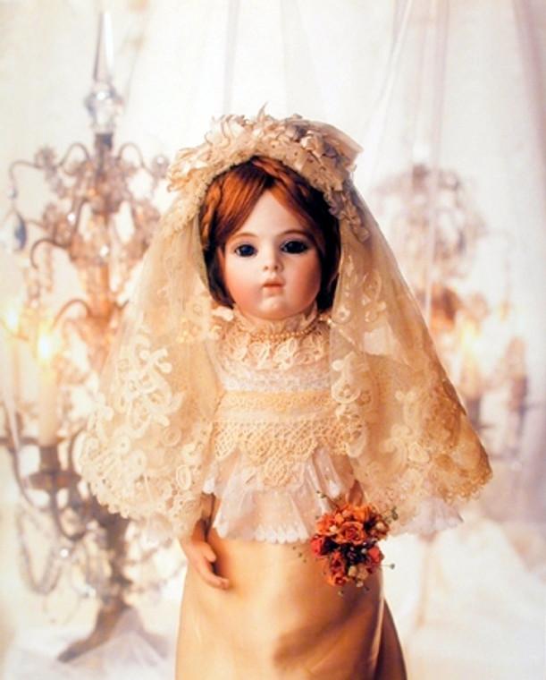 Cute Baby Doll in Wedding Dress Kids Bedroom Decor for GirlsŸ?? Art Print Poster (16x20)