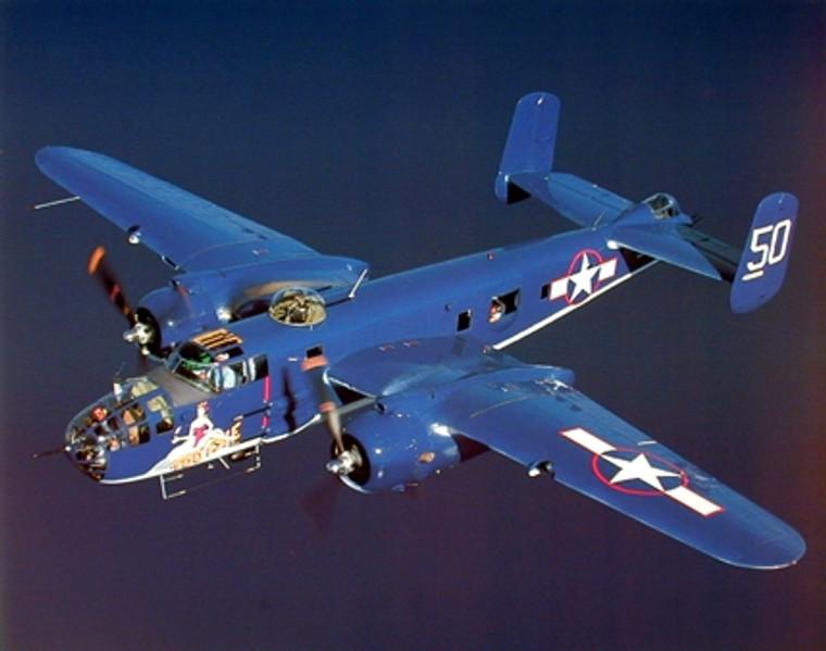 WWII B-25 Mitchell Bomber Military Airplane Aviation Art Print Poster (16x20)