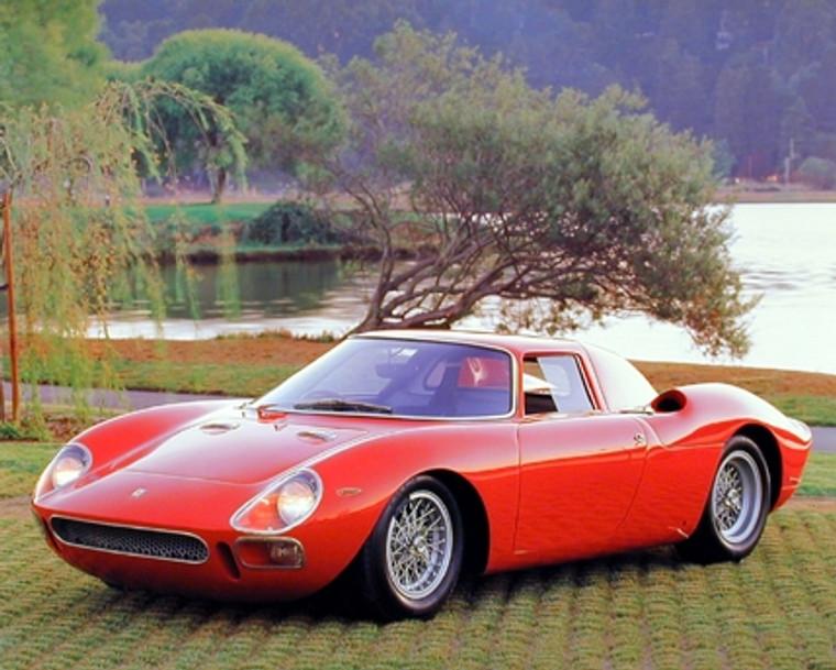 Vintage Ferrari Car Poster 1965 Red Ferrari LM 250 Art Print Poster (16x20)