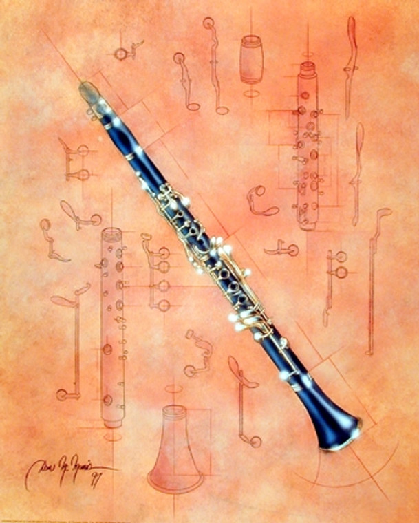Fine Arts Musical Instrument Clarinet Dan Mcmanis Wall Decor Art Print Poster (16x20)