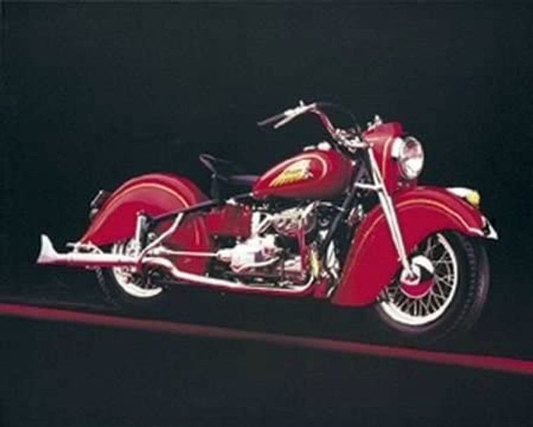 Vintage Red Indian Motorcycle Road Master Wall Decor Art Print Poster (8x10)