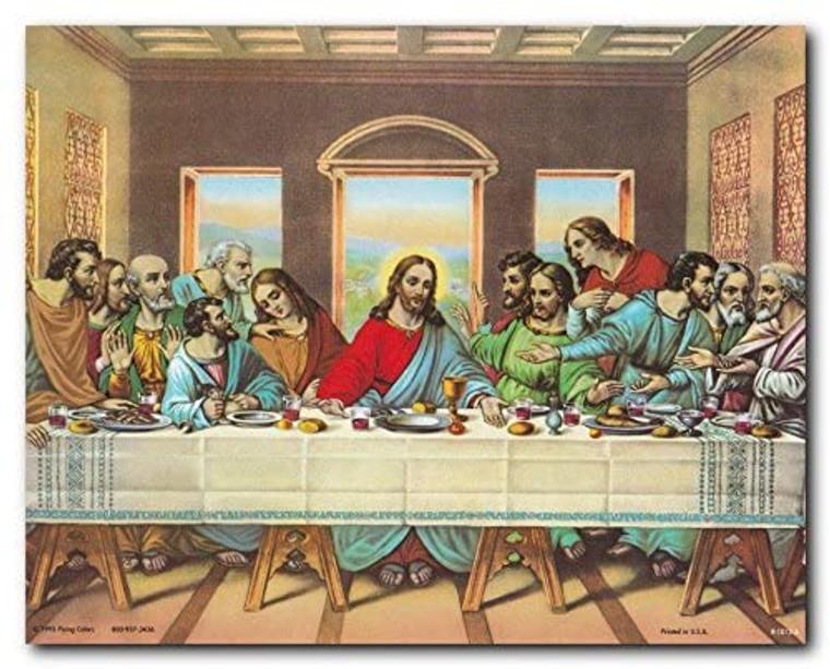 Jesus's Last Supper Religious & Spiritual Wall Art Print Poster (8x10)