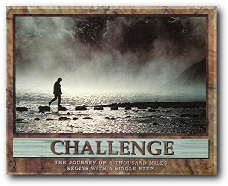 The Journey of A Thousand Miles Wall Decor Challenge Motivational Picture Art Print Poster (8x10)