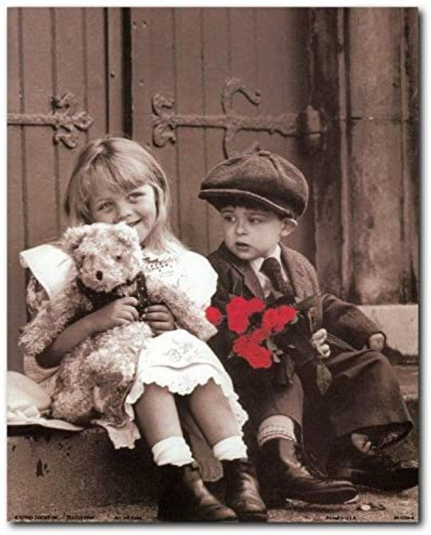 Sunday Best Cute Kids with Tady Retro Wall Decor Art Print Poster (8x10)