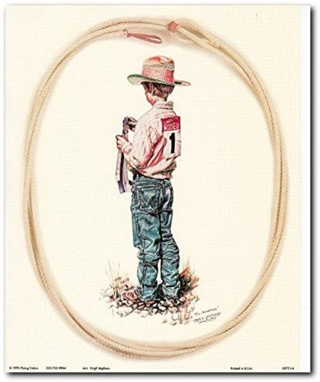 The Champion Western Rodeo Cowboy Wall Decor Art Print Poster (8x10)
