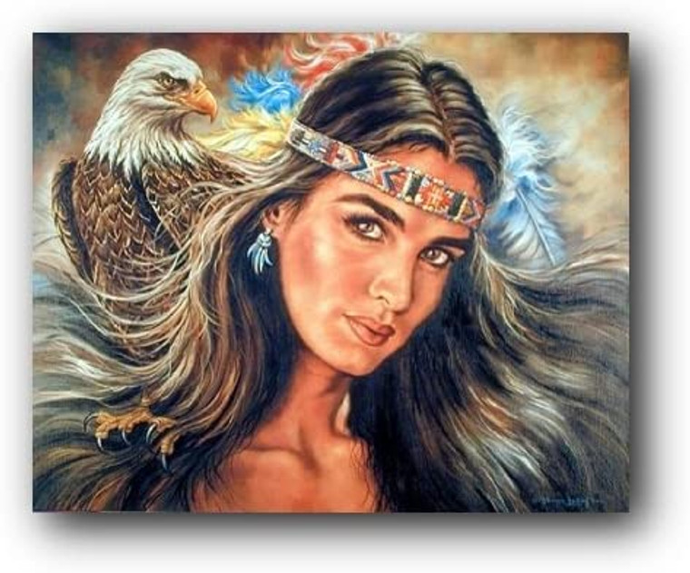 The Guardian Eagle Native American Wall Decor Picture Art Print (8x10)