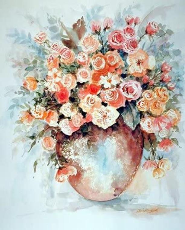 Vase of Roses Flower Fine Wall Decor Art Print Poster (8x10)