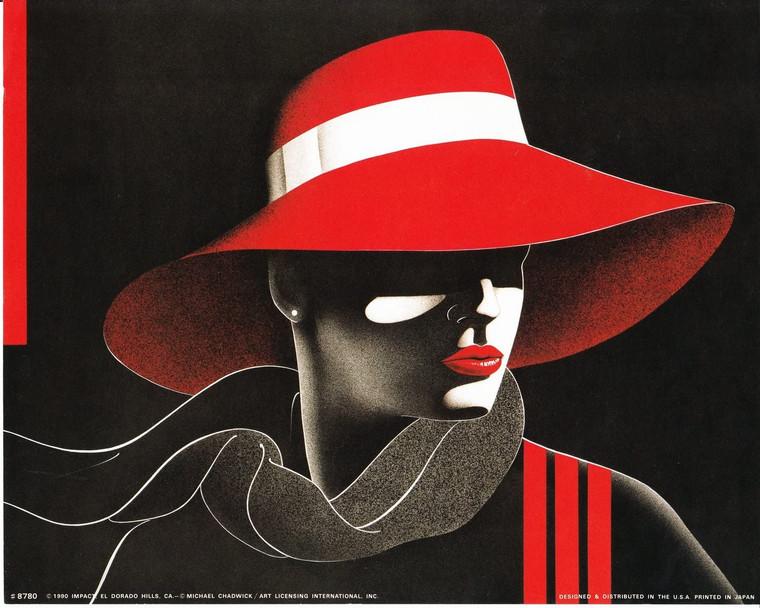 Windy Exotic Vogue Woman Michael Chadwick Wall Decor Fine Art Print Poster (8x10)