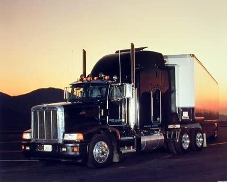 Peterbilt Semi Big Rig Truck with Trailer Picture Wall Decor Art Print (8x10)