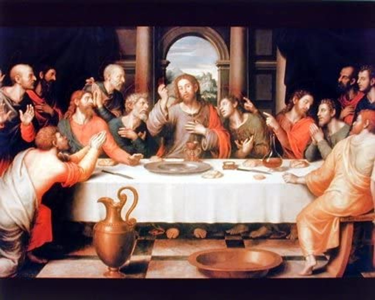 Jesus Christ The Last Supper Religious Catholic Picture Wall Decor Art Print (8x10)